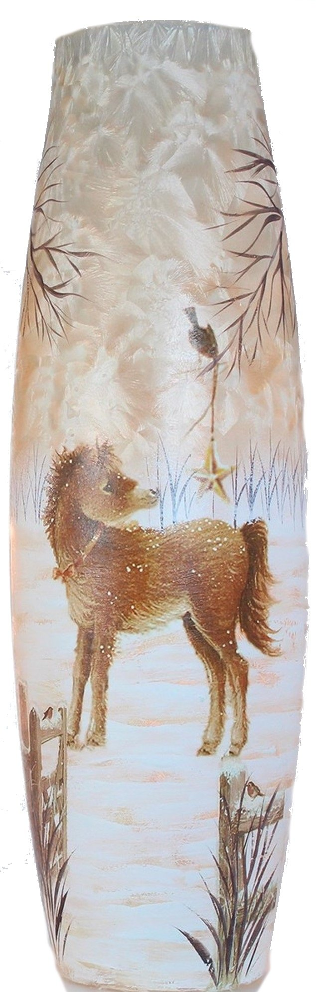 Giant Lighted Glass - Animals - Pony 5.5X5.5X15