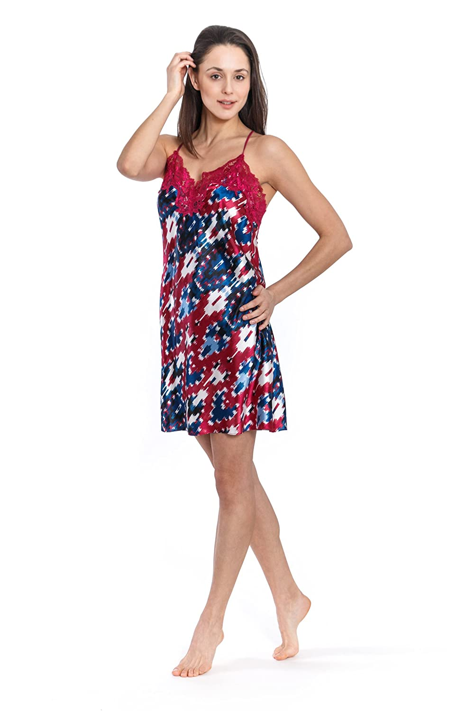 Jones New York Women's Short Satin Nightgown (Ikat)
