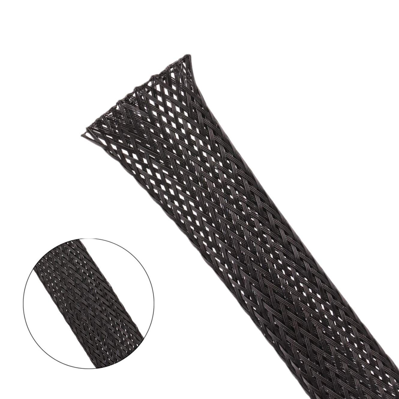 Techflex 1//2 25FT Braided Expandable Flex Sleeve Wiring Harness Loom Wire Cover-Black TODD/_88954