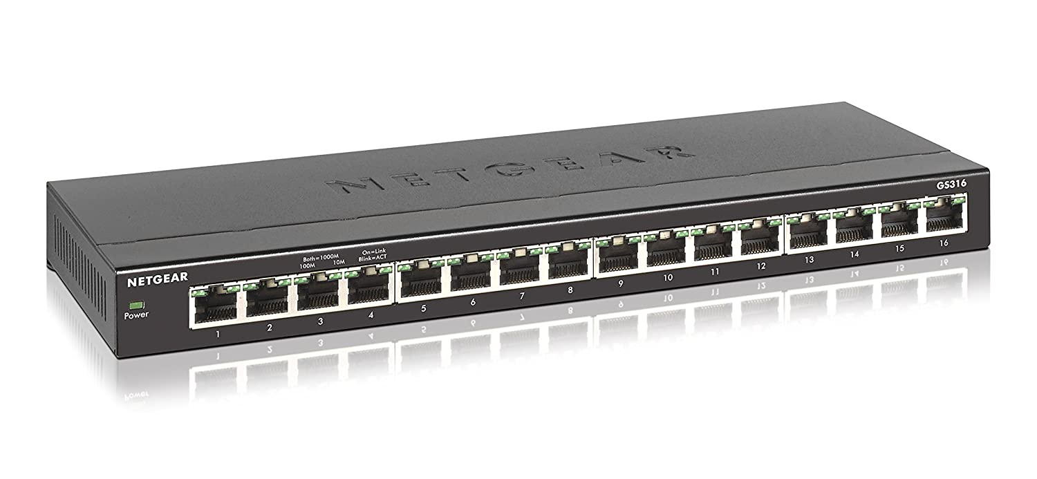 NETGEAR 16-Port Gigabit Ethernet Unmanaged Switch, Desktop (GS316)