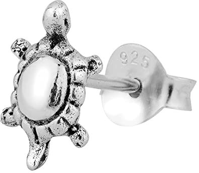 86f716ed1 Amazon.com: Cartilage Earring Stud: .925 Sterling Silver Tiny Turtle  Cartilage Earring (Sold Individually): Jewelry