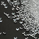 PePeng Pack of 5000 Clear Decorative Wedding Table Scatter Crystals for 6-8 Tables, Make Wedding Days more Magic with the Acrylic Gem Confetti (Clear)