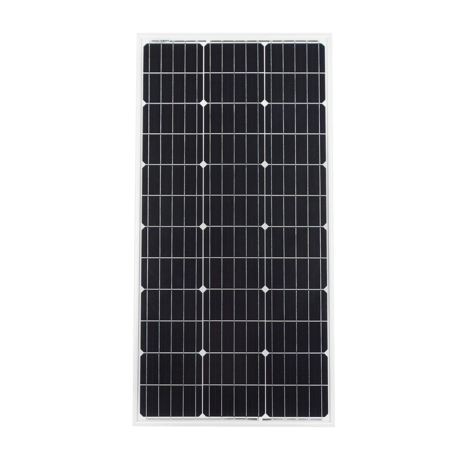 ECO-WORTHY 100 Watt 12 Volt Monocrystalline Solar Panel for RV Boat 12V Home Power