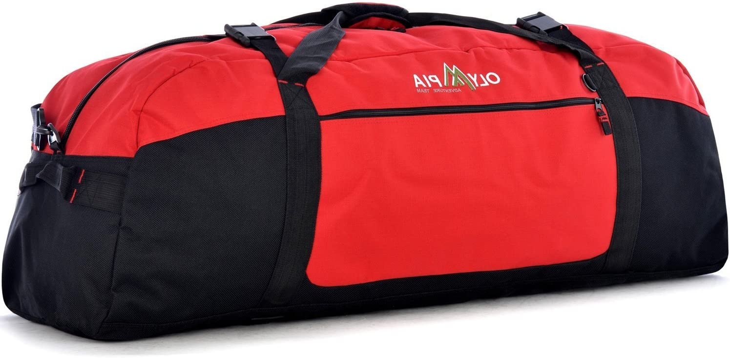 Lightweight Solid Polyester Foldable OTSK Dark Red Xtra Large Duffel Bag 42inch