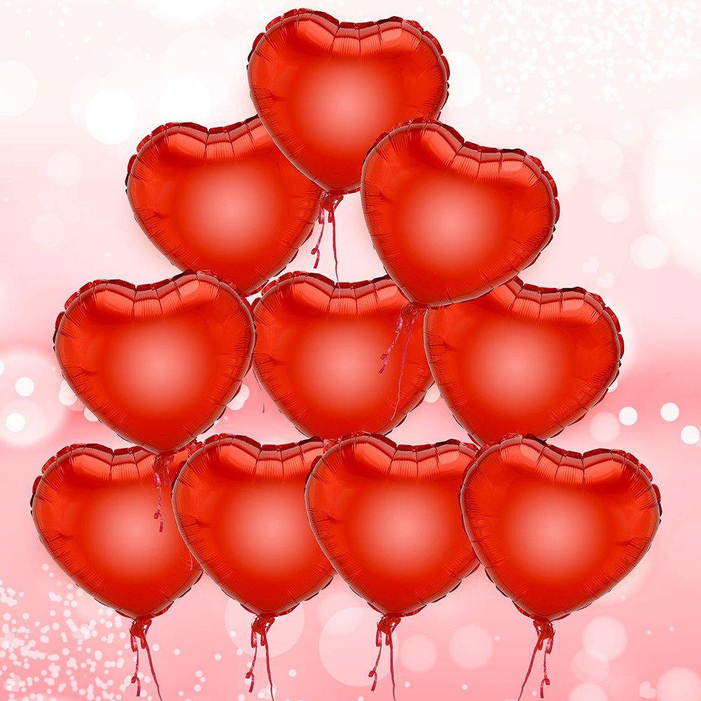 DekoRex® 10 Corazón Globos Balón de Helio Papel Brillante ...