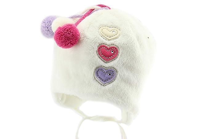 b930bab9311 Amazon.com  Jamiks Baby Girl Warm Winter Hat with Gloves  Clothing
