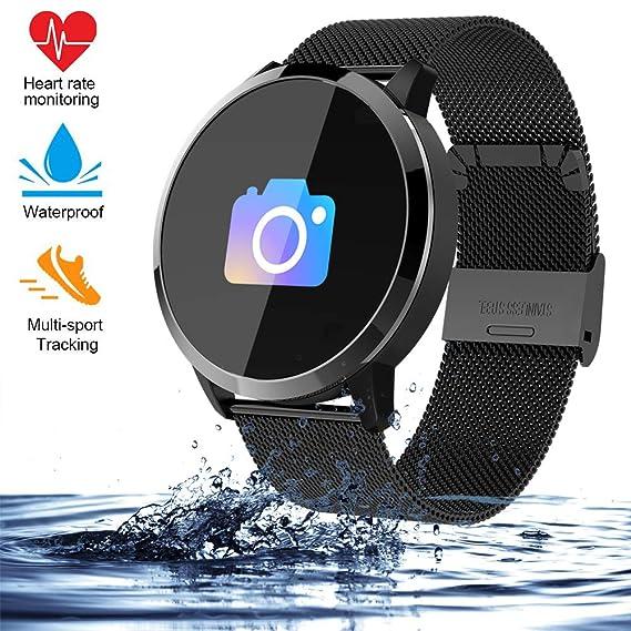 Smart Watch Q8 2019, para Hombres Mujeres al Aire Libre Reloj ...