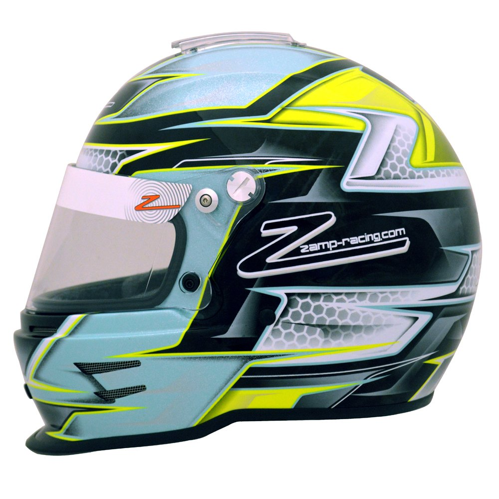 56cm RZ-42Y Youth Graphic Snell CRM2016 Grn/Silver Helmet by Zamp