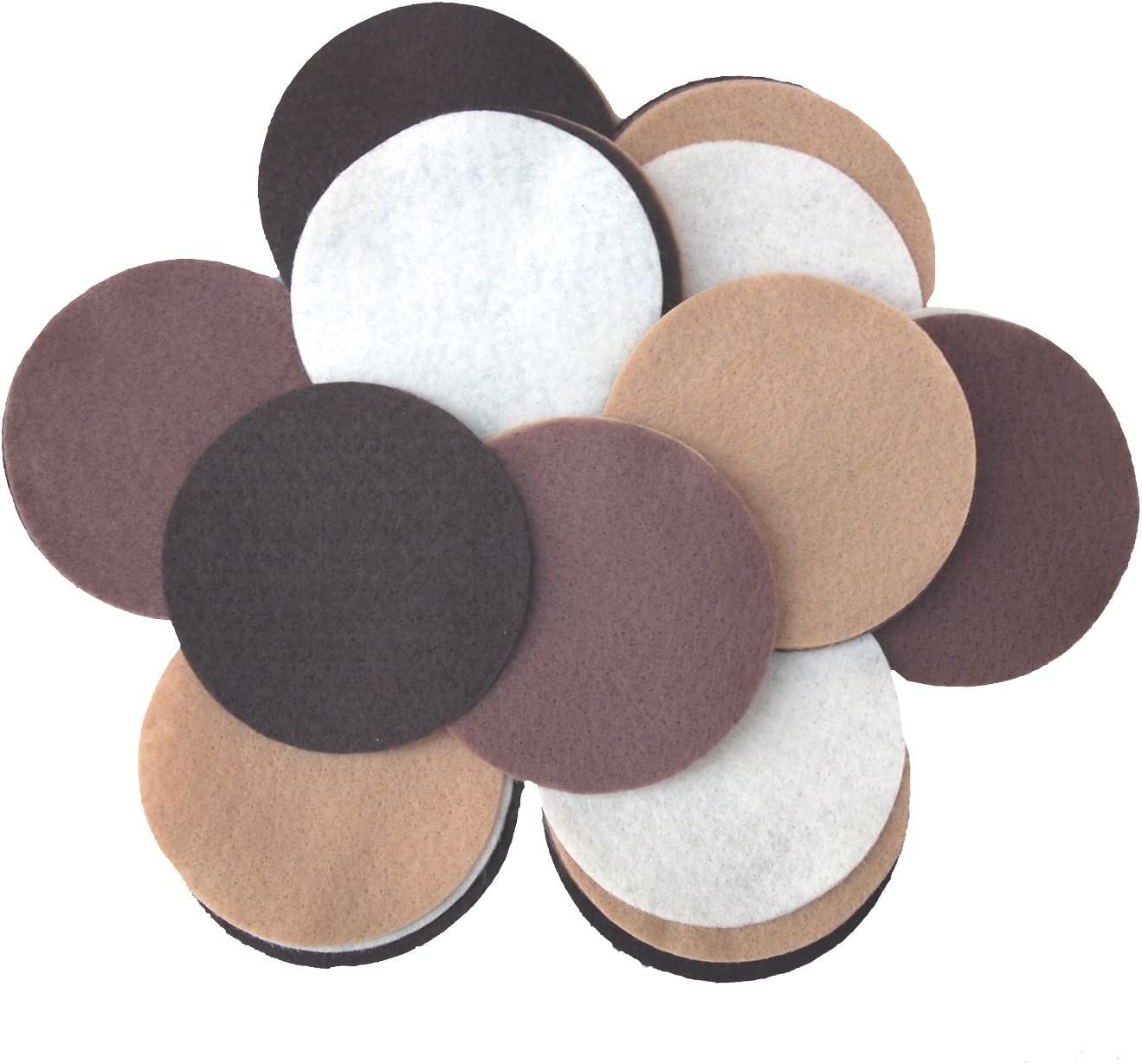 Cocoa Playfully Ever After Brown Camel /& Cream Craft Felt Circles Mixed Size Pack - 56pc