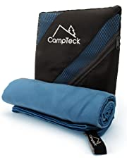 CampTeck Large (180x80cm) Lightweight and Compact Quick Dry Microfibre Travel Towel for Sports, Gym, Beach, Swimming, Yoga, Camping and Much More
