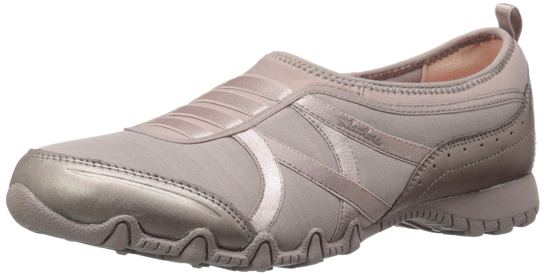 Skechers Women's Bikers Winner Sneaker B01B7GR2V0 7.5 M US|Taupe Lycra/Champagne Leather