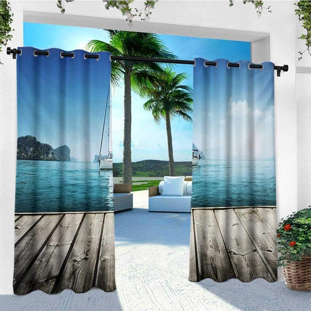Leinuoyi - Par de cortinas para exteriores náuticas, yates de ...