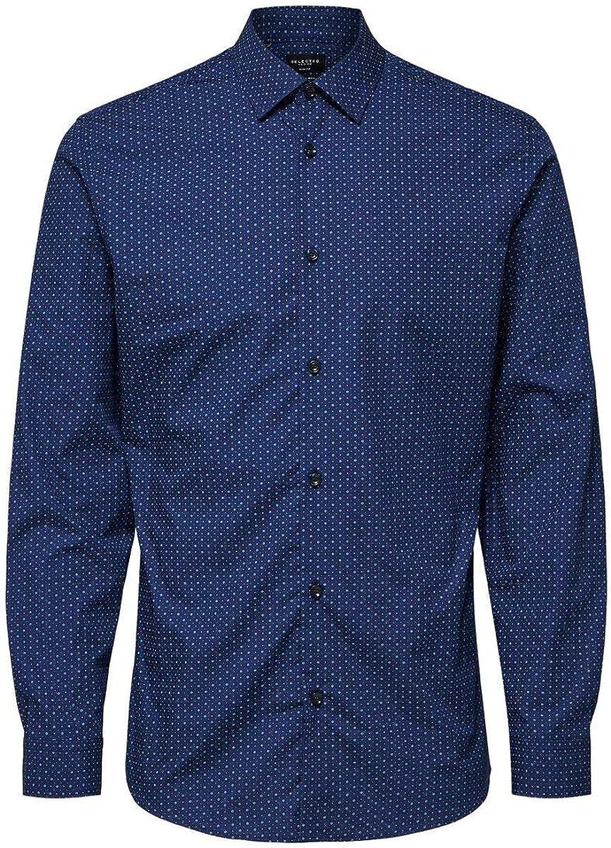 SELECTED HOMME Slhslimpen-Circle Shirt LS AOP B Noos Camisa para Hombre