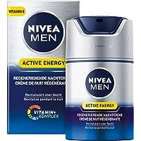 Nivea Men Active Energy Regenererende nachtcrème, per stuk verpakt (1 x 50 ml), regenererende nachtcrème voor mannen…