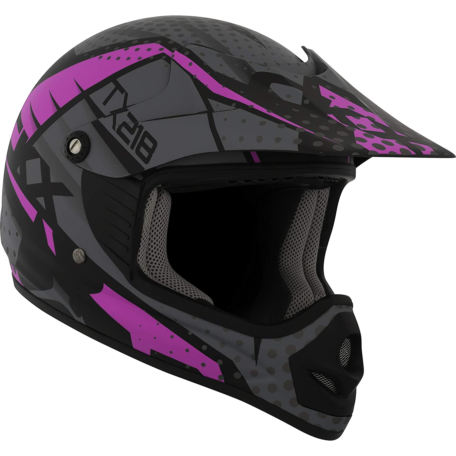 CKX Unisex-Child's Off Road Zuma TX218Y Helmet (Youth) (Matte Pink, Small) 509492