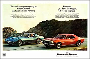 1968 CHEVROLET CORVETTE STING RAY COUPE YOU WOULDN/'T EXPECT ORIGINAL GM AD