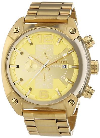 Diesel DZ4299 - Reloj de pulsera hombre, revestimiento de acero inoxidable, color dorado: Amazon.es: Relojes