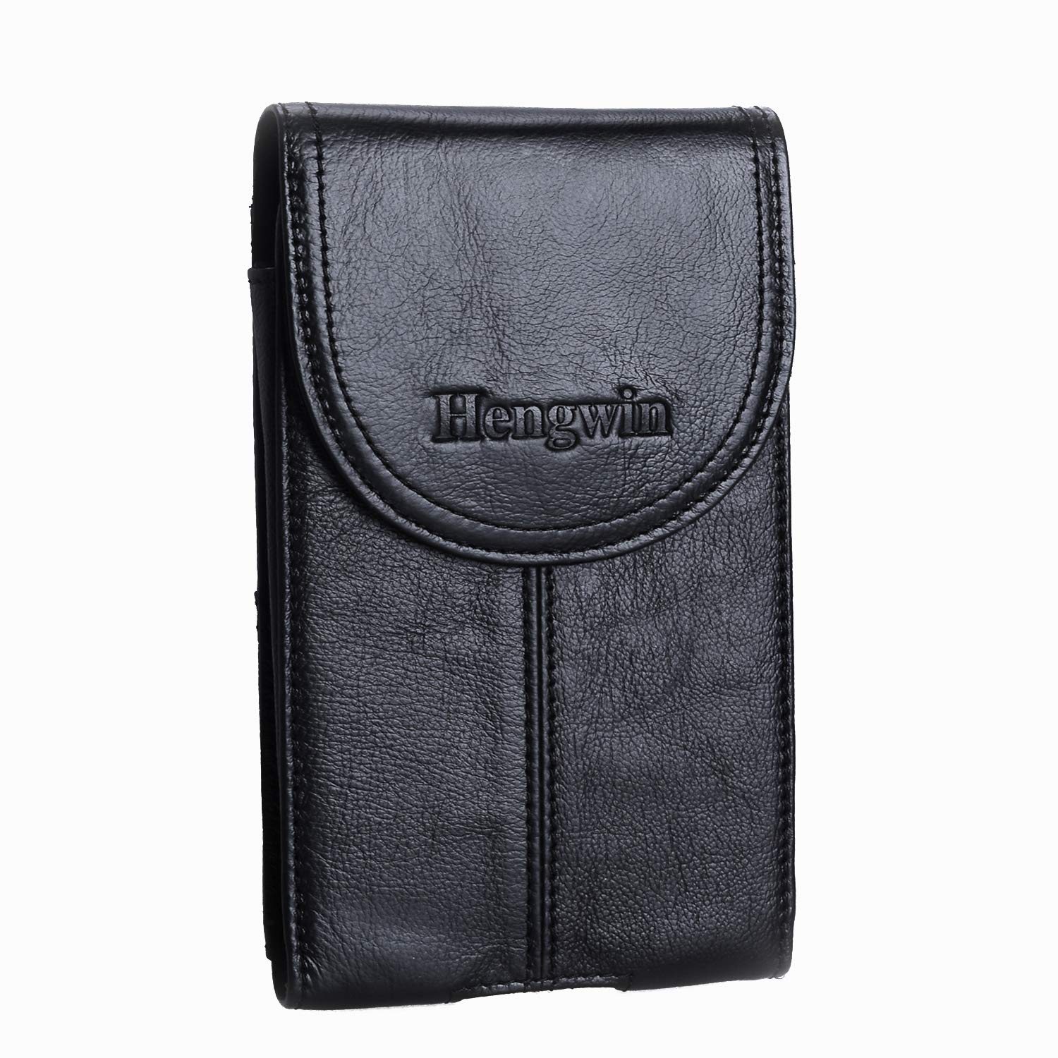 Leather Pouch with Belt Clip Hengwin Men Holster Case iPhone XS Max Belt Loop Holster Cellphone Belt Pouch Case for iPhone XR Keyring