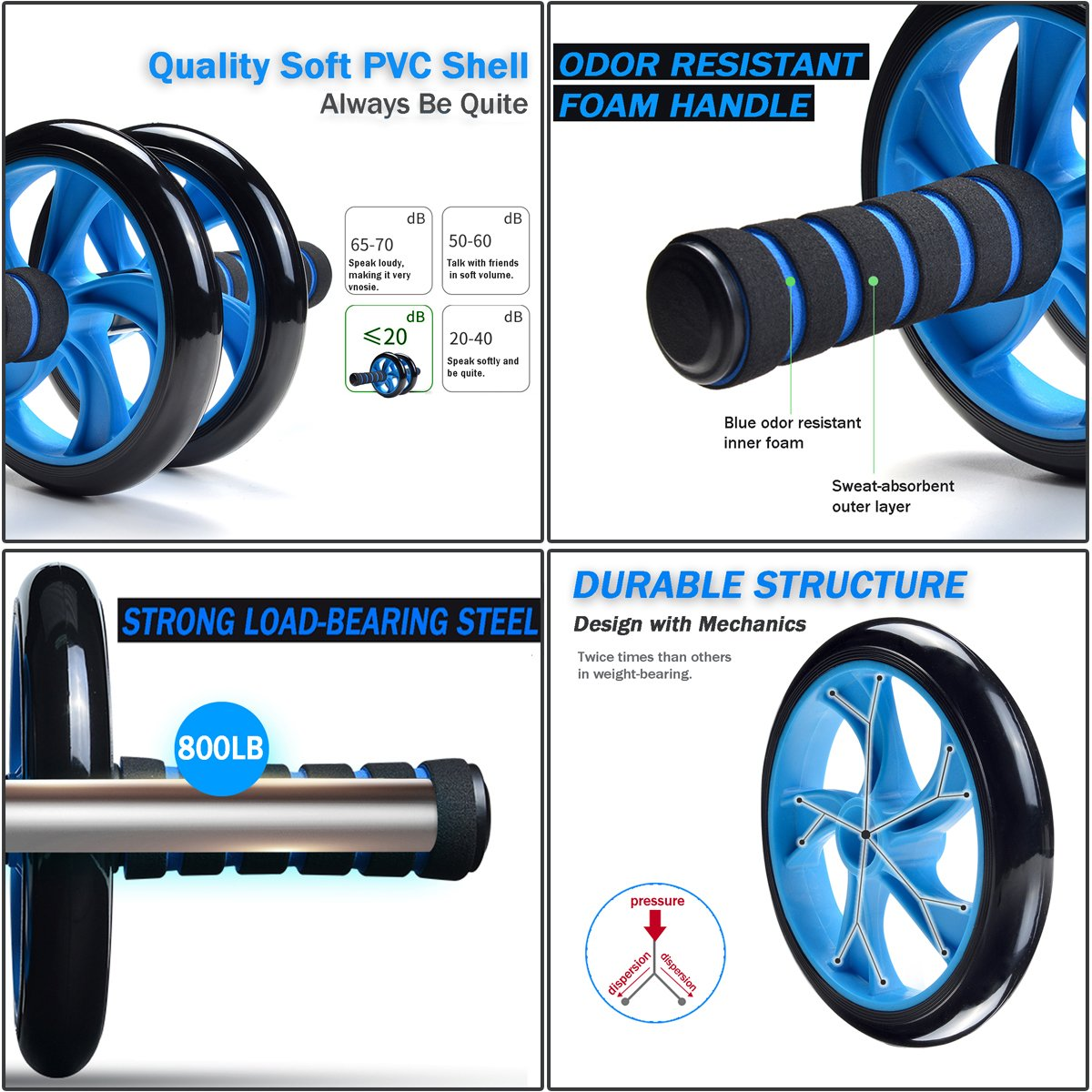 Odoland Wheel Roller Push Up Jump Image 2