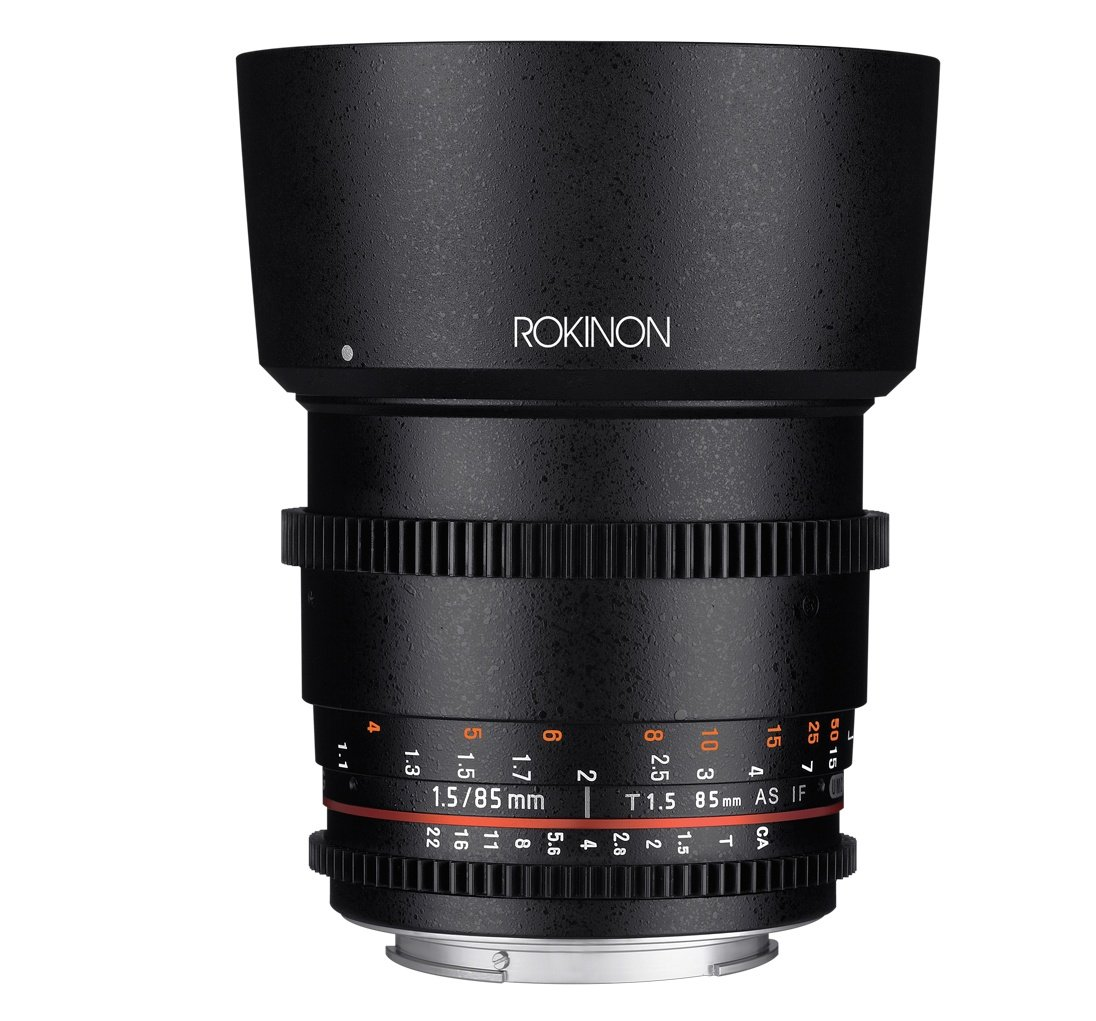 Rokinon Cine DS DS85M-C 85mm T1.5 AS IF UMC Full Frame Cine Lens for Canon EF by Rokinon