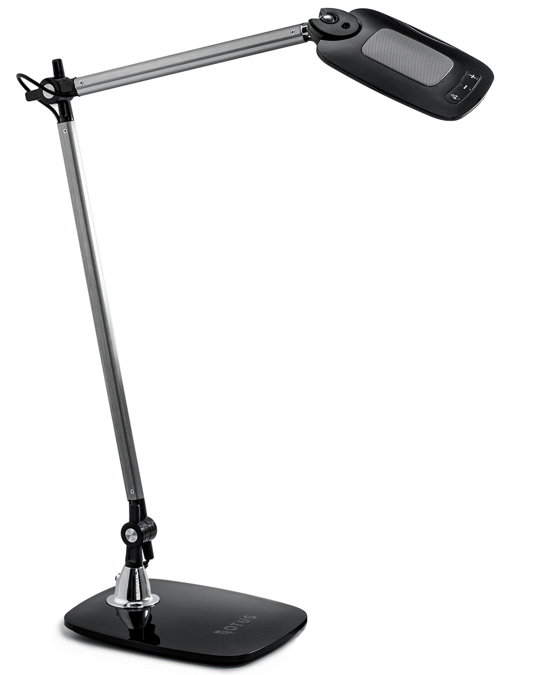 LED Desk Lamp Gesture Control - Adjustable Architect Lamp - Tall Drafting Table Lamp - Eye-care Desk Lighting Office 3 Color Modes 12 Dimmable Levels - Black