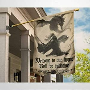 """Garden Flag Dragon Welcome to Our Home Roll for Initiative Yard Decor House Decor Flag Seasonal Banners for Patio Lawn Outdoor 28x40"""""""