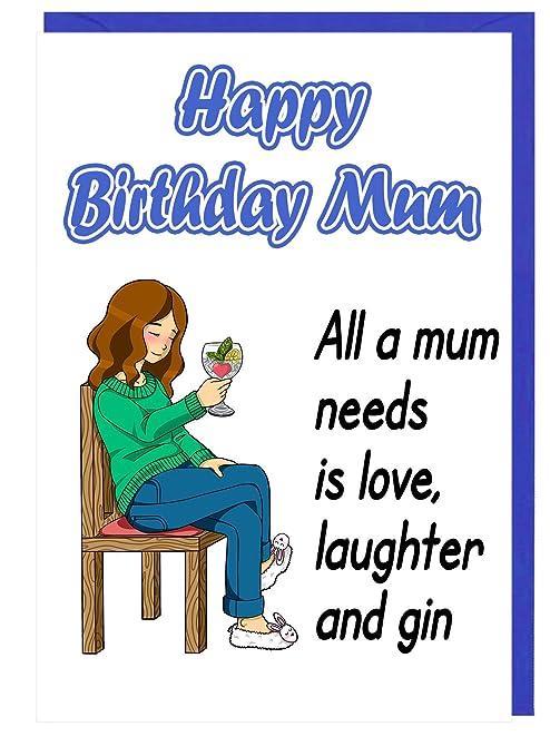 Divertida Tarjeta de felicitación de cumpleaños para madre ...