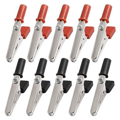 20x rosso nero morbido plastica test sonda coccodrillo clip coccodrillo clip WQ
