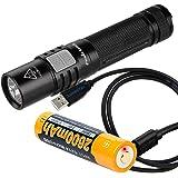 Fenix E35 Ultimate Edition-2016 (E35UE) Compact 1000 Lumen LED Flashlight PLUS USB Rechargeable Fenix 18650 Battery