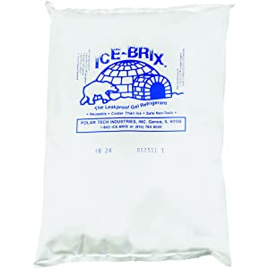 "Boxes Fast BFIB24BPD Ice-Brix Cold Gel Pack, 8"" x 6"" x 1 1/4"", 24 oz. Reusable, Food Safe, White (Pack of 12)"