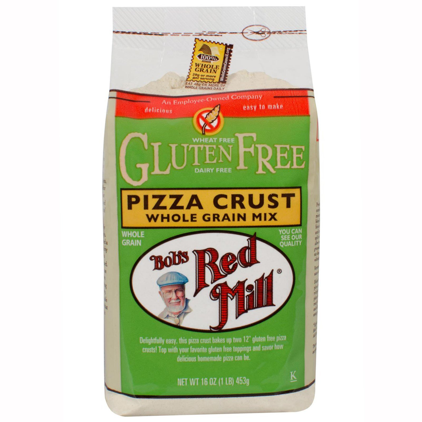 Bob's Red Mill, Gluten Free Pizza Crust Whole Grain Mix, 16 oz(Pack of 3)