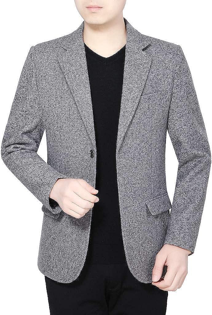 Yungmer Blazer - Chaqueta Informal de Hombre Slim Fit Formale Suit ...