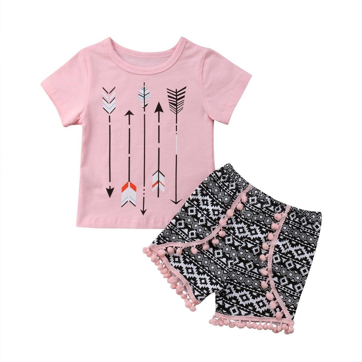 Zimaes-Baby Girl Boy Clothes Set of 3 Cotton Long-Sleeve Romper Harem Pants