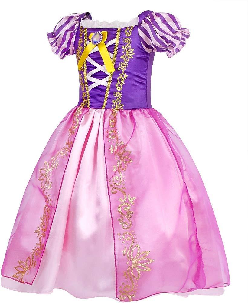 HenzWorld Aurora Costume Dress Girls Princess Birthday Party Cosplay Outfit
