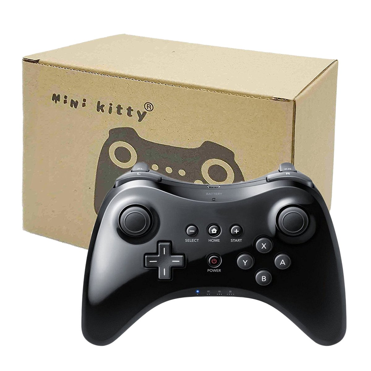 Mini Kitty Black Wii U Pro Controller Dual Analog Wireless Controller For Wii U