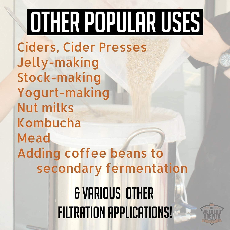 SOONHUA Sacchetto Filtrante Sacchetti Filtranti per Filtri per Alimenti a Maglia Fine per Latte Alle Noci Succo Verde Birra Fredda Birra Fatta in Casa Riutilizzabile 22 Pollici X 26 Pollici