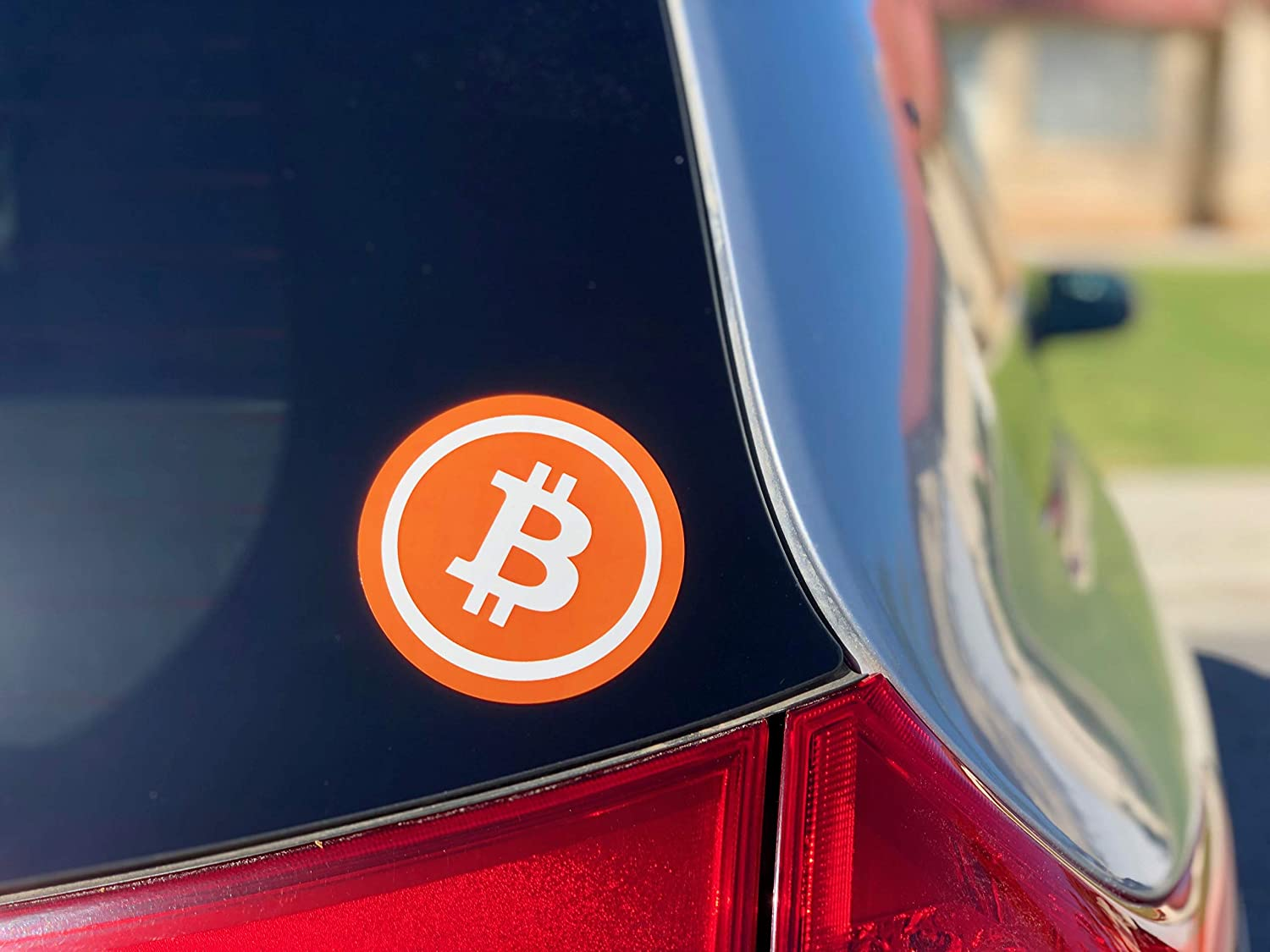 4 Inch Diameter Stickers 4Pillars Bitcoin Cryptocurrency Bumper Sticker Perfect for Cars Blockchain