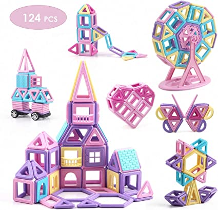 103pcs//Set Magnetic Toy Building Blocks 3D Tiles DIY Toys Great Gift For Kids A+