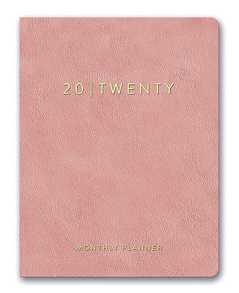 Orange Circle Studio 2020 Leatheresque Large Monthly Planner, Practically Pink