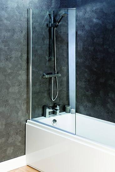 800 mm x 1400 mm baño cuadrado 6 mm cristal de seguridad de ducha con bisagra mampara de baño: Amazon.es: Bricolaje y herramientas
