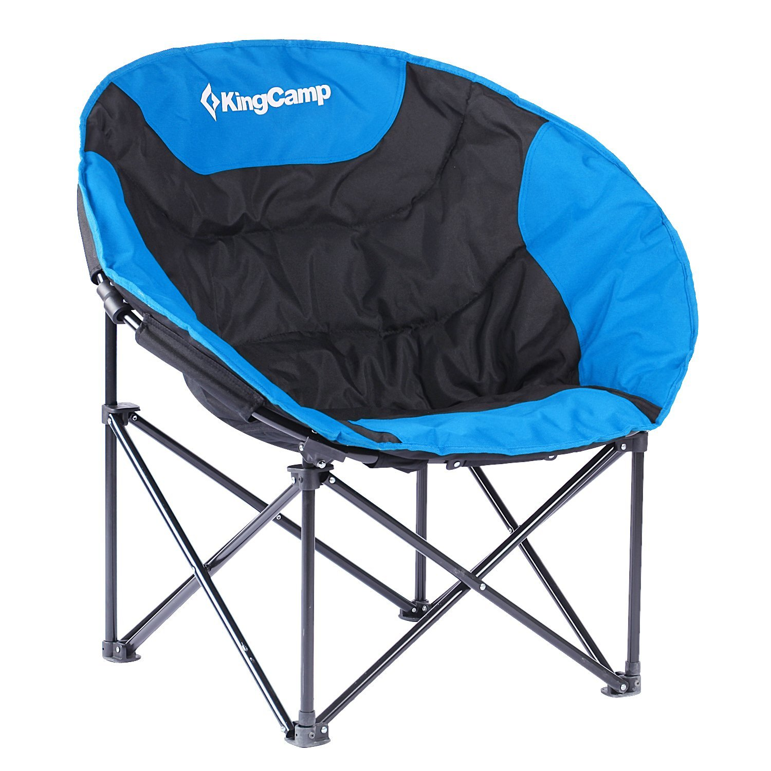 KingCamp Moon Leisure Camping Chair Frame Folding Padded Round