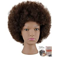 Kalyx Mannequin Head African American with 100% Human Hair Cosmetology Afro Hair...