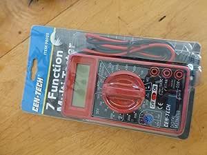 CEN-TECH 7 FUNCTION DIGITAL MULTIMETER AC/For DC VOLTAGE CURRENT BATTERY TESTER NEW