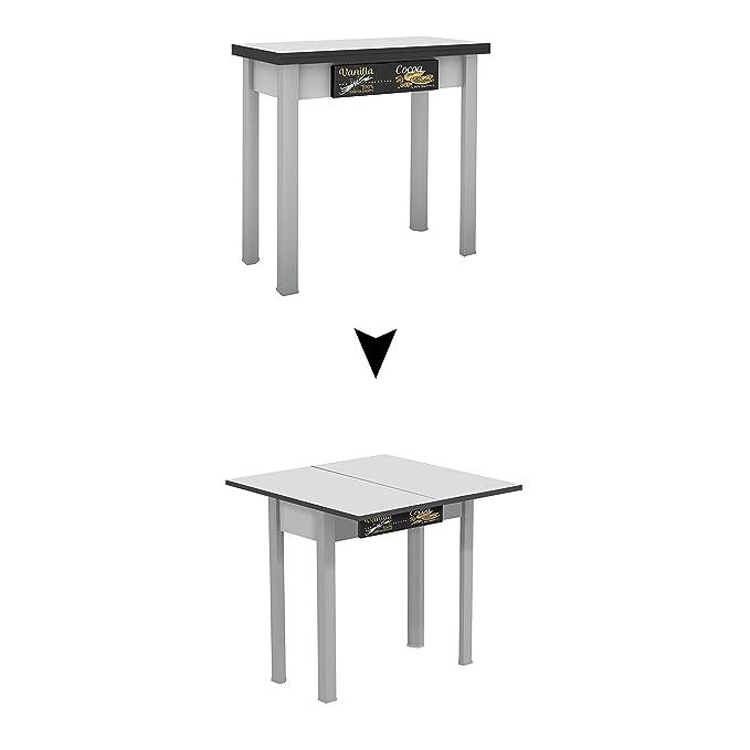 Mesa de madera Suarez Caye II, 1 unidad, color plata, dimensiones 40 x 80 x 77,3 cm (H226-VNC): Amazon.es: Hogar