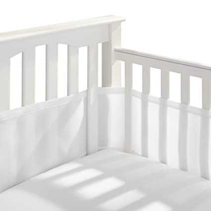 Plain white  Cot Bar Bumper Wraps pack of 8