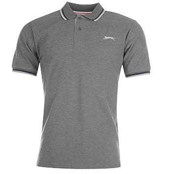 Slazenger Polo pour homme avec pointe Anthracite Top T-shirt Tee XXL Gris foncé RFwUg