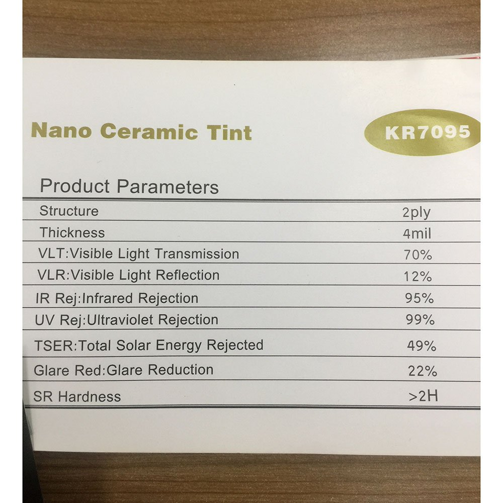 VLT 70/% HOHO 4mil Nano Ceramic Solar Tint UV Proof Car Window Film 60x20