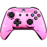 eXtremeRate Chrome Pink Edition Front Housing Shell Faceplate for Xbox One S & Xbox One X Controller (Model 1708)
