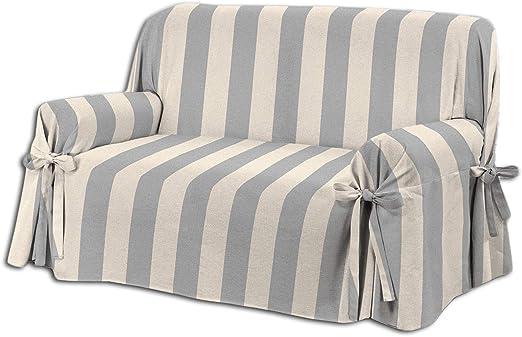 HomeLife – Cubre sillón – Elegante Protector de sofás a Rayas ...