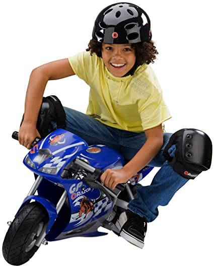 amazon com razor pocket rocket blue childrens powered ride ons rh amazon com